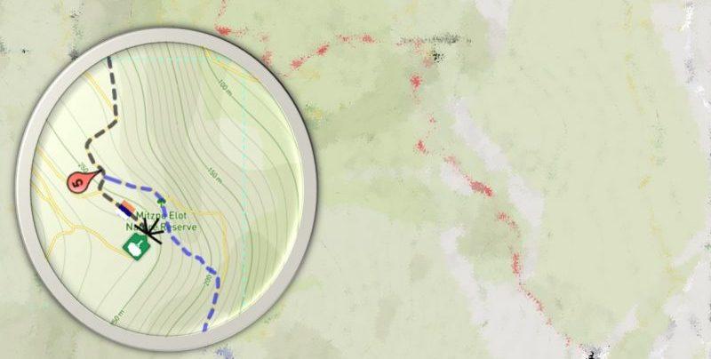 Detailed hiking map
