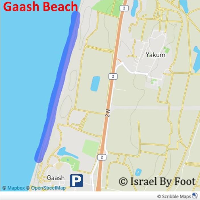 Gaash Beach Map