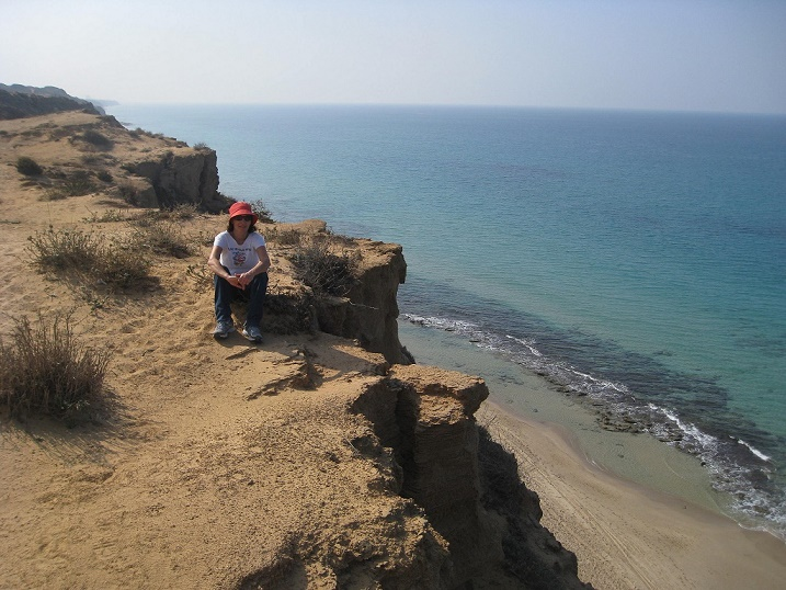 Limostone Cliffs overlooking the sea in Israel