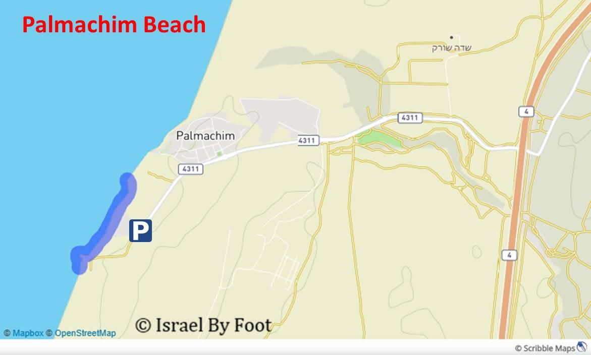 Palmachim Beach Map