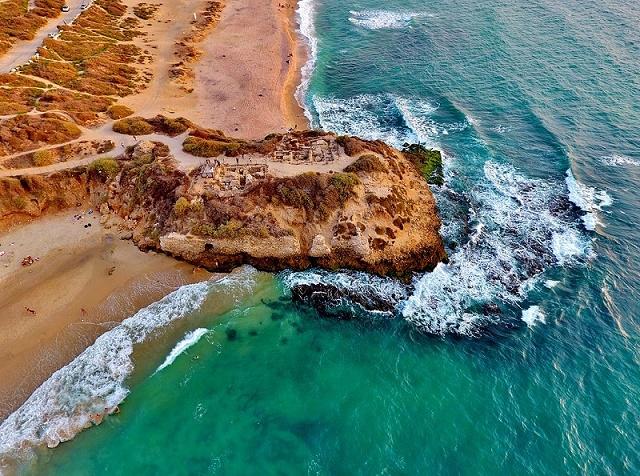 Arial view of Palmachim beach