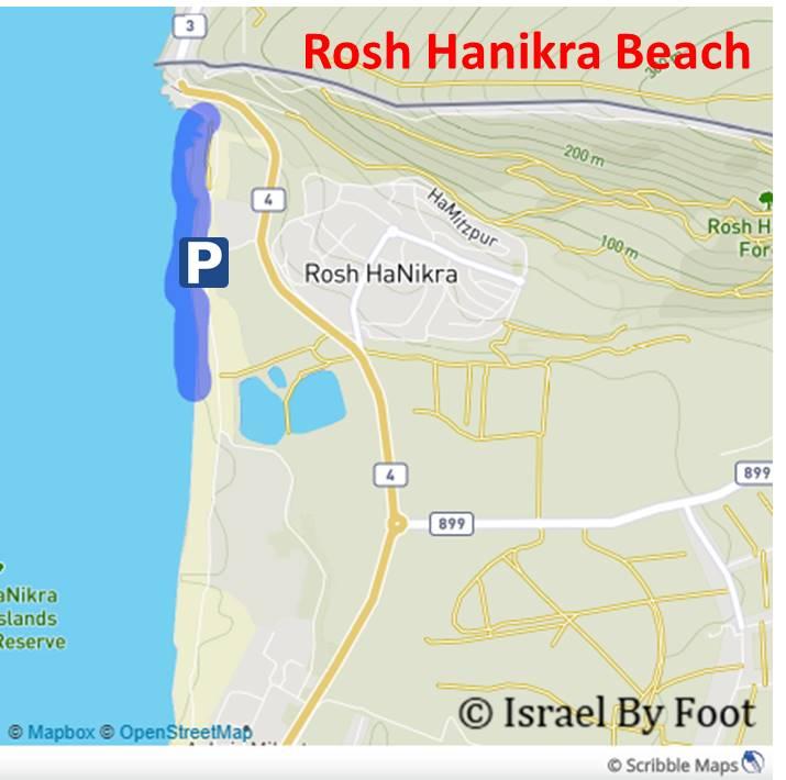 Rosh Hanikra Beach Map