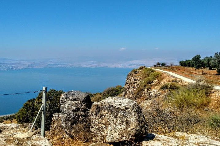 The Sea of Galilee viewed from the Mevo Hama promanade