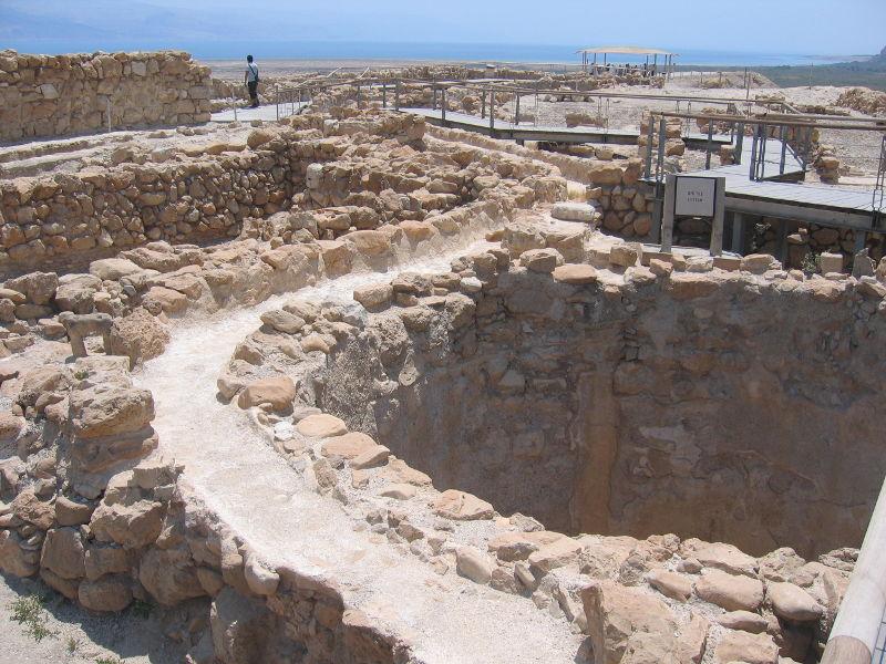 A water cisterne at Qumeran ruins