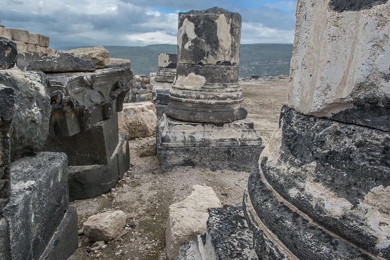 Susita (Hipos) Ruins, Golan Heights, Israel