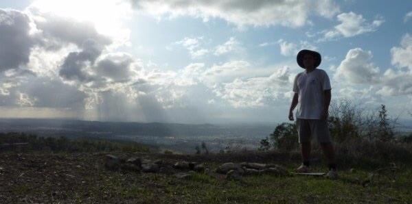 Yaela Mountain, Israel, View to the coastal planes