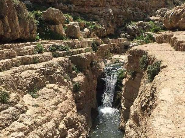 Typical section in the Wadi Qelt Canyon