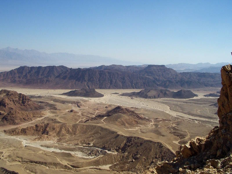 The black mountain in the middle of the Timna Park