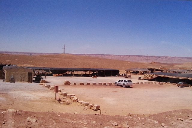 Beerot Campground - The only availble lodging inside Makhtesh Ramon