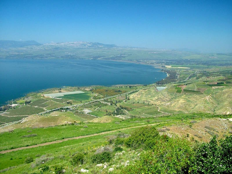 The sea of Galille from the Golan Heights