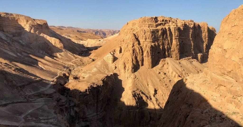 The climb to Masada