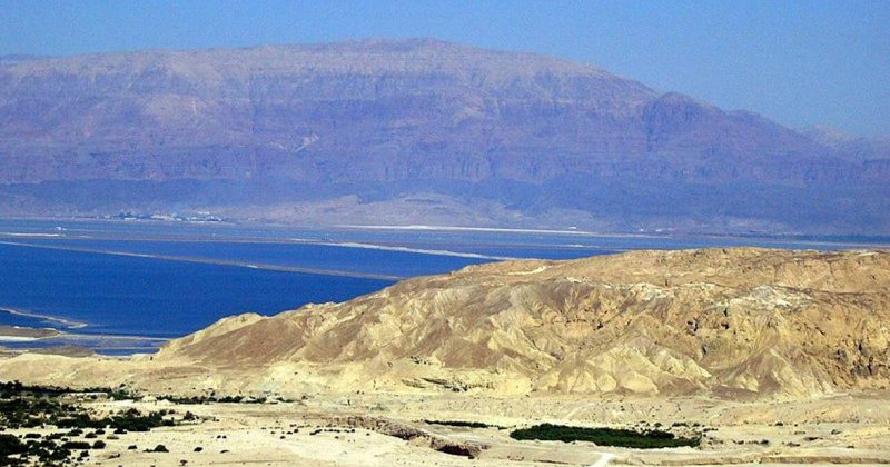 View of the Dead Sea from Mount Sdom
