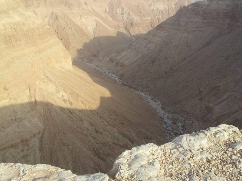 A view on Wadi mishmar from the cliff