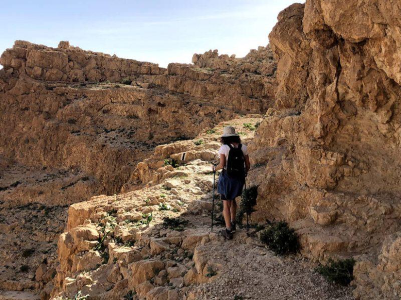 Hiking above Ein Gedi