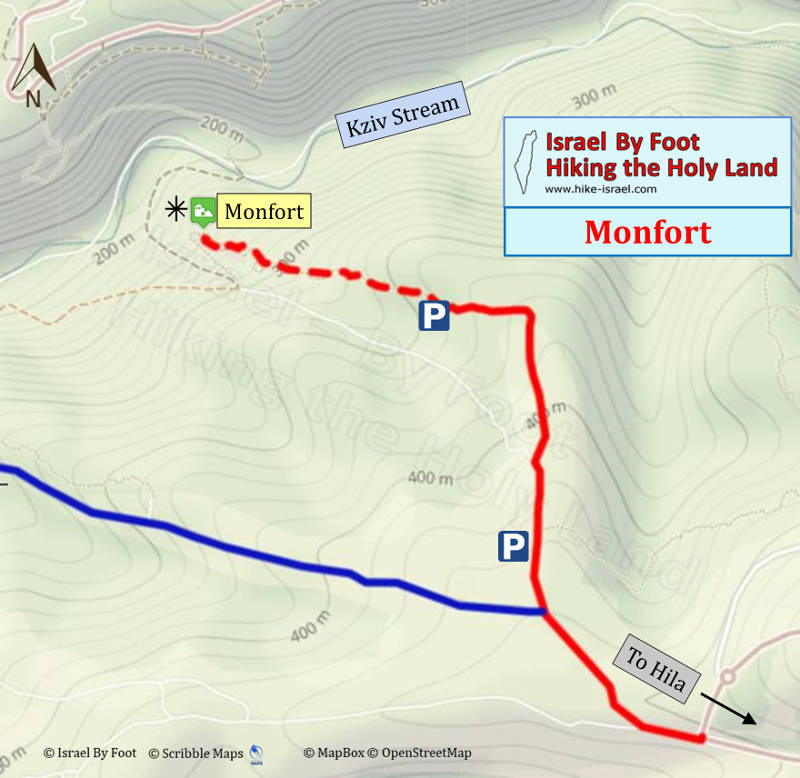 Monfort Fortress Hiking Map