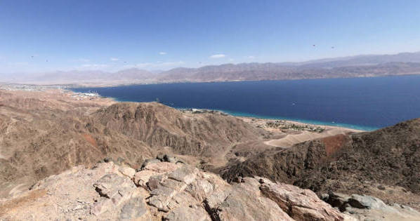 View from mount Tsfachot, eilat, israel