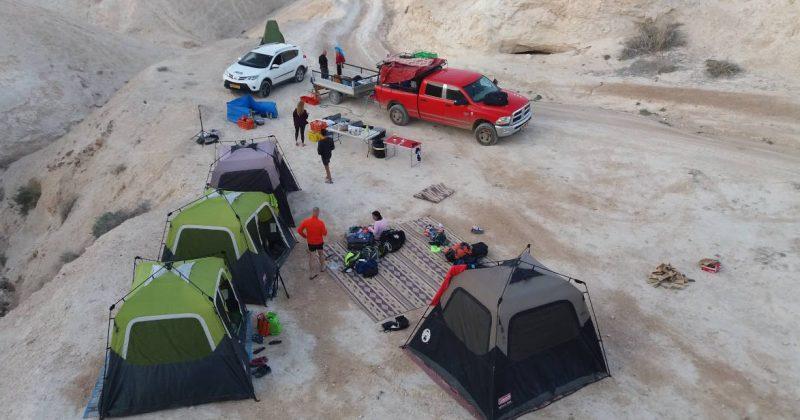 logistics for multi-day deserty trekking and mountain biking