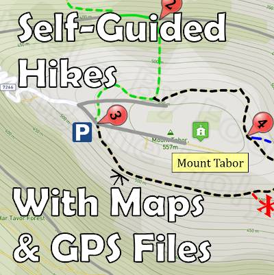 Self Guided Hikes - Hiking Map