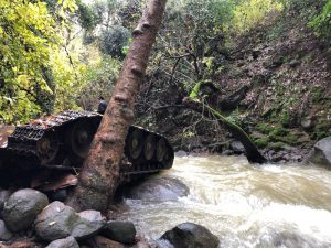 Old Syrian Tank at the Banias (Hermon Stream) Nature Reserve
