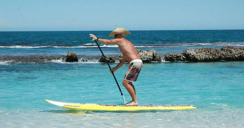 standup paddle boarding at Dor-Habonim beach Israel