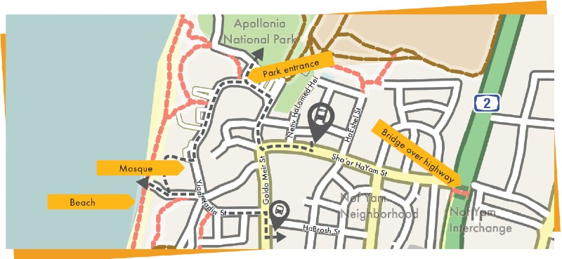 Apollonia Hiking Map